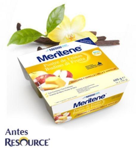 Meritene Tarrina Puré Manzana y vainilla (100 g x 4 ud)