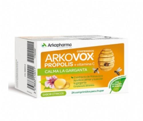 Arkovox Comprimidos Própolis y Vitamina C Sabor Cítricos (24 ud)