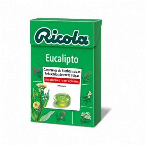 Ricola Caramelos Eucalipto sin azúcar (65 g)