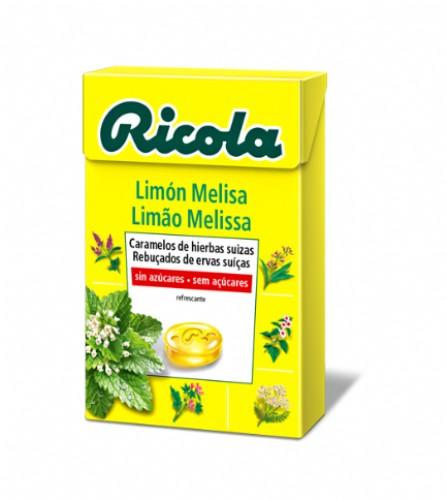 Ricola Caramelos Melisa de limón sin azúcar (65 g)