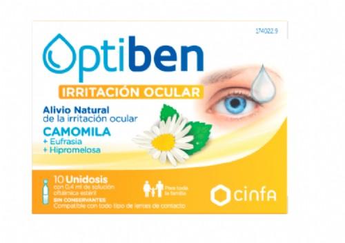 Cinfa Optiben Ojos Irritados Gotas unidosis (0.40 ml x 10 ud)