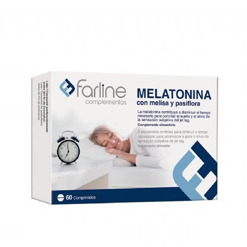 Farline Melatonina con melisa y pasiflora (60 comprimidos)