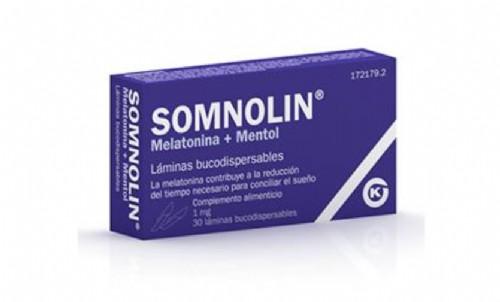 Somnolin Melatonina y mentol (30 láminas bucodispersables)