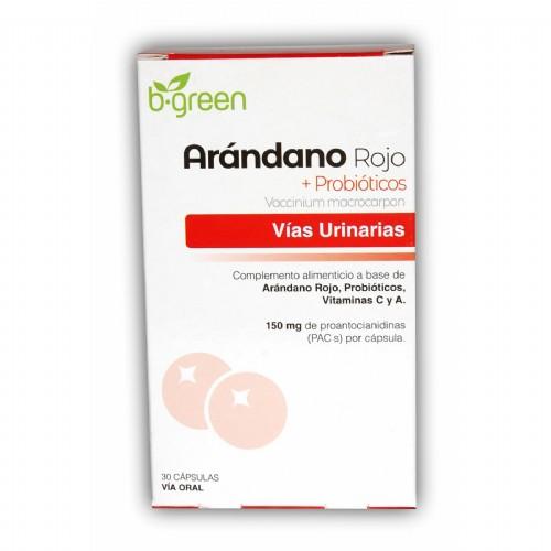 B-Green Arándano rojo + Probióticos (30 cápsulas)