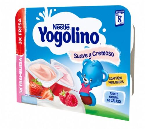 Nestlé Yogolino Suave y Cremoso Fresa / Frambuesa +8 m (6 ud x 60 g)