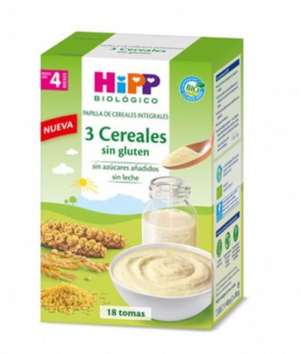 HiPP Papilla Tres Cereales sin gluten +4m (400 g)