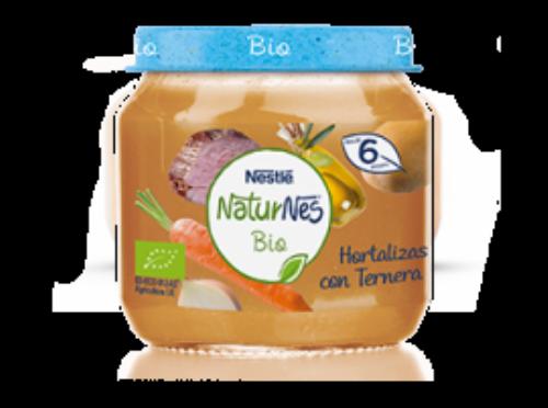 Nestlé NaturNes Bio Puré de Hortalizas con Ternera 6 meses (200 g)