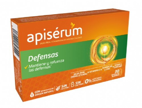 Apisérum Defensas Jalea Real Vitaminada (30 cápsulas)