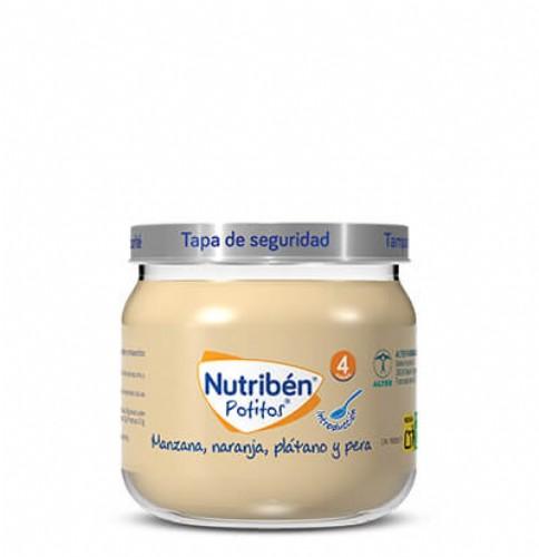 Nutribén Potito Introducción a la Manzana, Naranja, Plátano y Pera +4m (120 g)