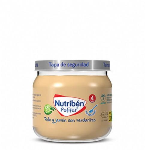 Nutribén Potito Introducción al Pollo y jamón con verduritas +4m (120 g)