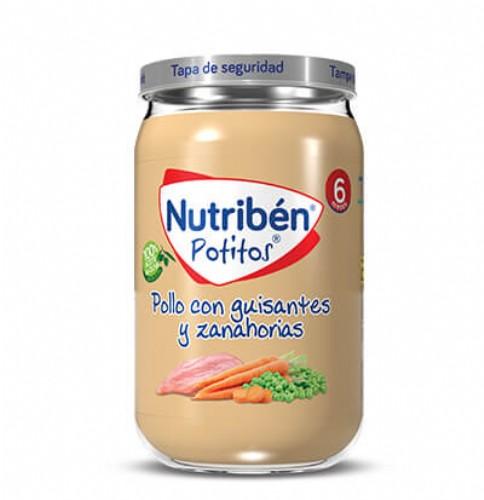 Nutribén Potito Pollo con Guisantes y Zanahorias +6m (235 g)
