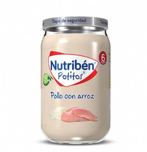 Nutribén Potito Pollo con arroz +6m (235 g)