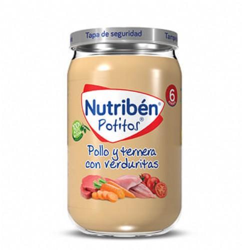 Nutribén Potito Pollo y ternera con verduritas +6m (235 g)