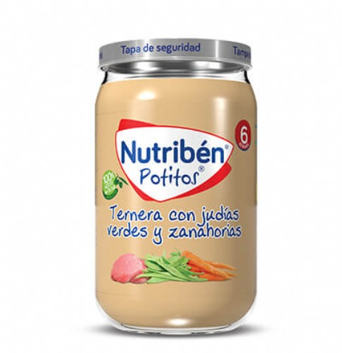 Nutribén Potito Ternera con judías verdes y zanahorias +6m (235 g)