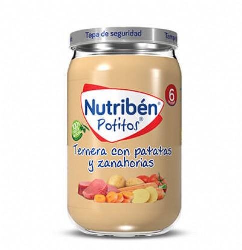 Nutribén Potito Ternera con patatas y zanahorias +6m (235 g)