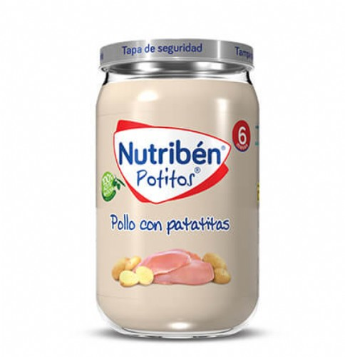 Nutribén Potito Pollo con patatitas +6m (235 g)