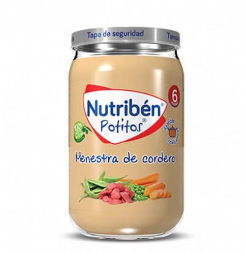 Nutribén Potito Receta Tradicional Menestra de Cordero +6m (235 g)
