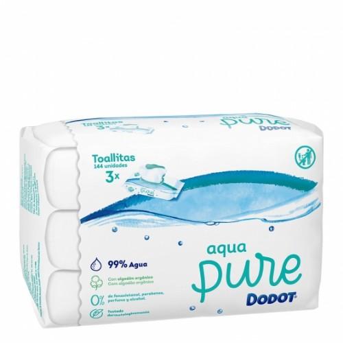 Dodot Aqua Pure Toallitas Húmedas (144 ud -- 48 x 3 pack)