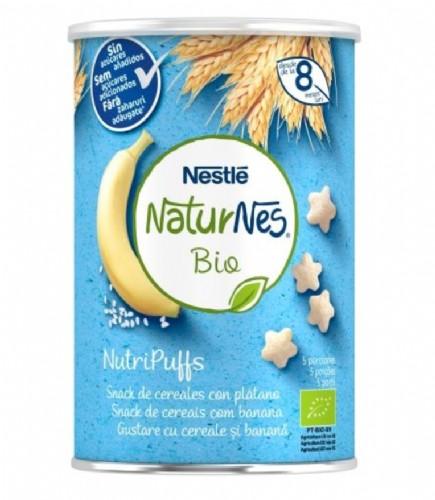 Nestlé Naturnes Bio NutriPuffs Snack de Cereales con Plátano +8m (35 g)