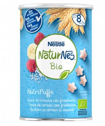 Nestlé Naturnes Bio NutriPuffs Snack de Cereales con Frambuesa +8m (35 g)