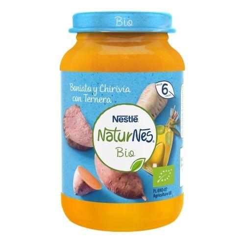 Nestlé NaturNes Bio Tarrito Boniato y Chirivía con Ternera (190 g)