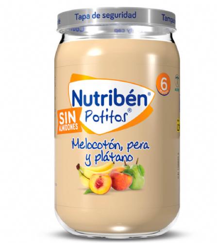 Nutribén Potito Plátano, naranja, mandarina y pera +6m (235 g)