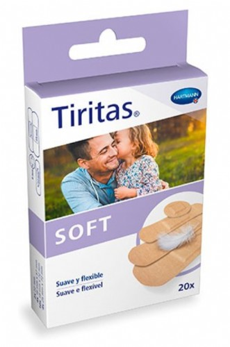 Hartmann Tiritas Soft Combinadas (20 ud) de 4 tamaños
