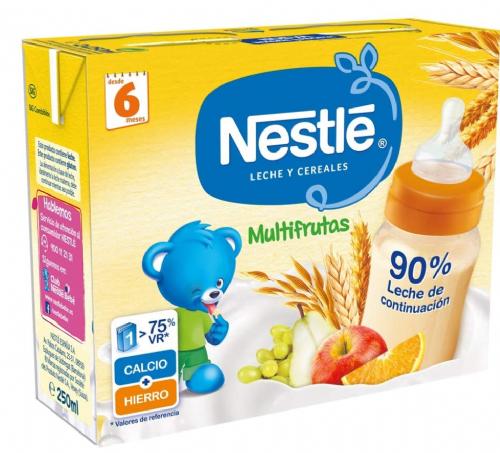 Nestlé Leche y Cereales Multifrutas lista para tomar (250 ml x 2 bricks)