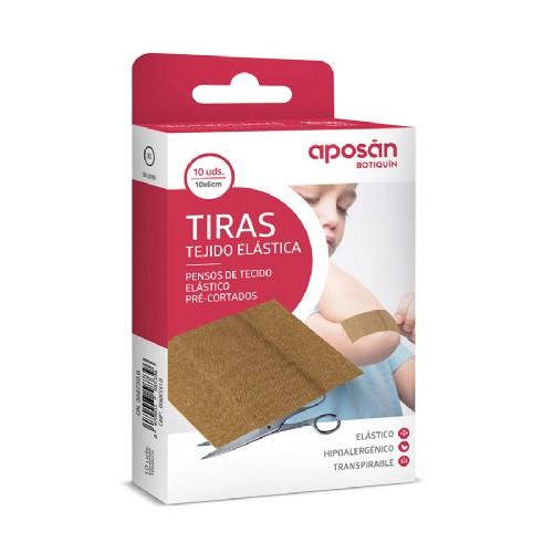 Aposán Tiritas de Tela Elástica 10 x 6cm (10 ud)