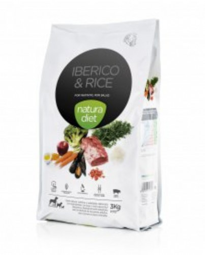 Natura Diet Ibérico & Rice Pienso para Perros (500 g)