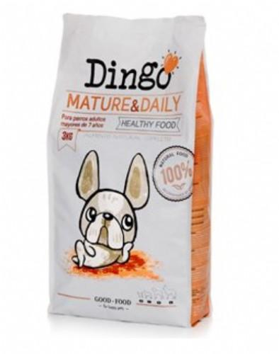 Dingo Mature & Daily Pienso para perros sedentarios, ancianos o con tendencia a la obesidad (3 kg)