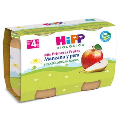 HiPP Puré Frutas Bio: Manzana y pera +4m (125 g x 2 ud)