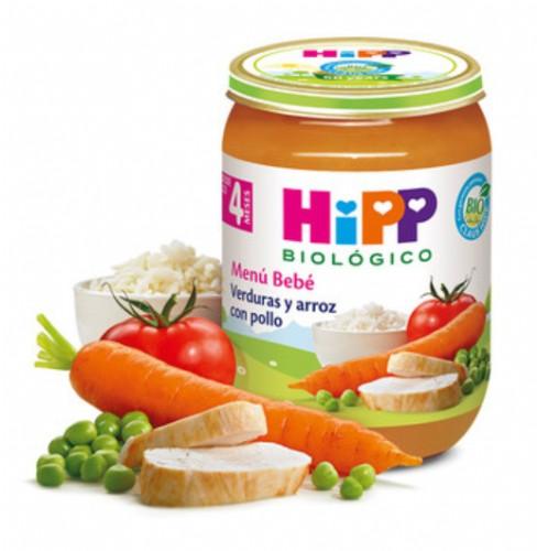 HiPP Menú Bebé: Verduras y arroz con pollo +4m (190 g)