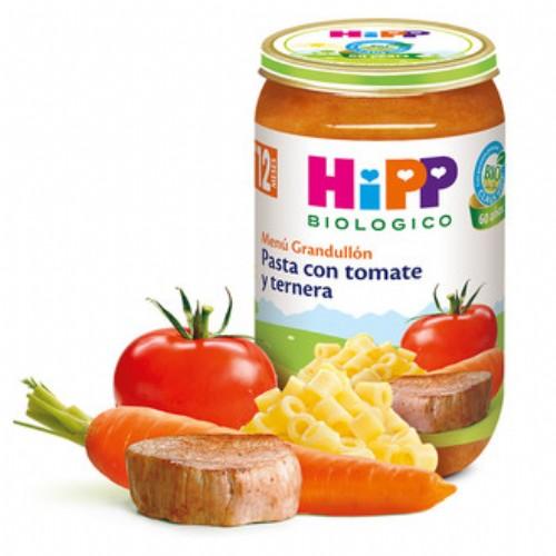 HiPP Menú Grandullón: Pasta con tomate y ternera +12m (250 g)