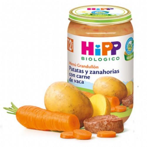 HiPP Menú Grandullón: Patatas y zanahorias con carne +12m (250 g)