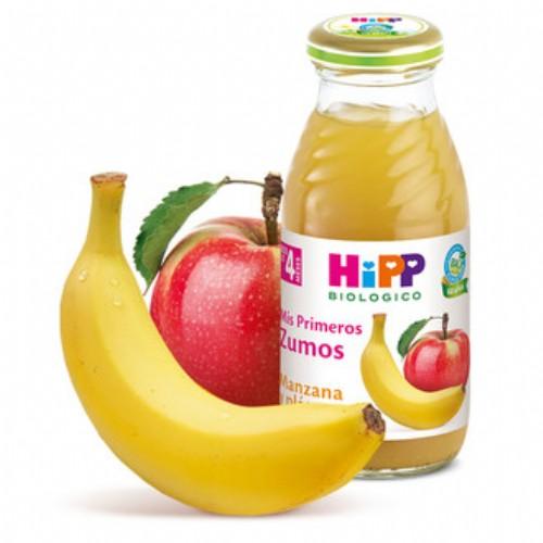 HiPP Zumo Manzana y Plátano +4m (200 ml)
