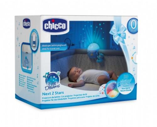 Chicco Proyector de cuna Next 2 Stars Azul +0m