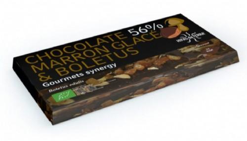 Hifas da Terra Tableta de Chocolate 56% Boletus & Marrón Glacé (100 g)