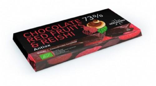 Hifas da Terra Tableta de Chocolate 73% Reishi & frutos rojos (100 g)