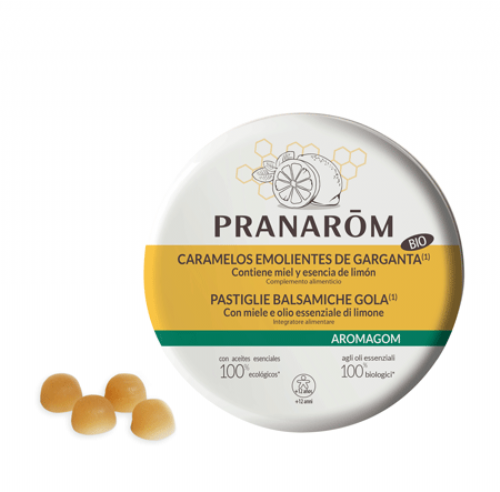 Pranarom Caramelos emolientes de Miel y Limón (45 g)