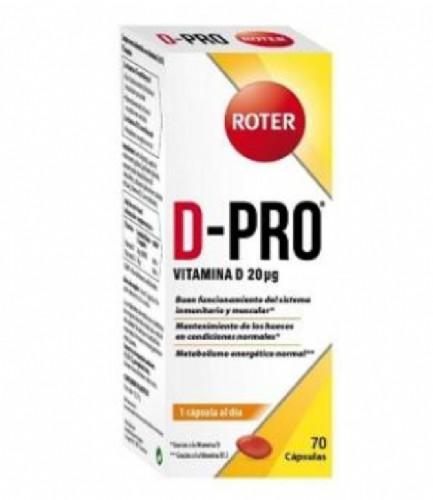 Roter PRO-D Vitamina D 20 mcg (70 cápsulas)