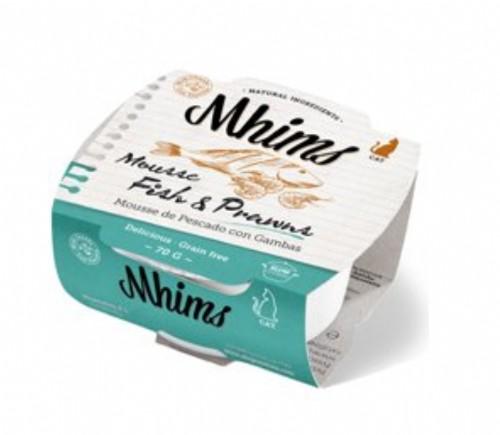 Mhims Cat Mousse de Pescado y Gambas (70 g)