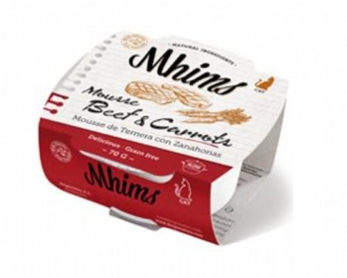 Mhims Cat Mousse de Ternera con Zanahorias (70 g)