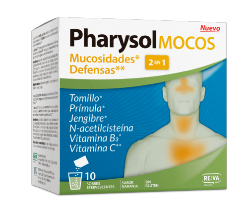 Pharysol mocos 10 comprimidos efervescentes