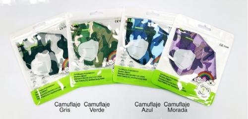 mascarilla ffp2 - kn95 colores coronavirus