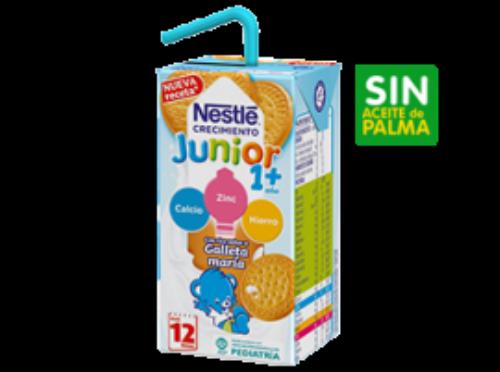 Nestlé Junior Leche de Crecimiento 1+a con Galleta (3 ud x 200 ml)