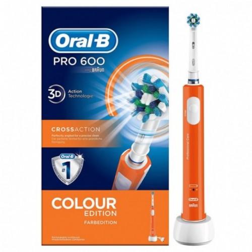 Oral-B PRO 600 CrossAction Con Tecnología Braun (color Naranja)