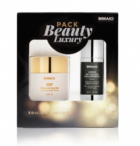 Bimaio Pack Beauty Luxury Edición Limitada: Crema EGF Celulas Madre + Sérum Activador