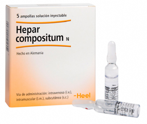 Hepar Compositum Heel (5 ampollas x 2,2 ml)