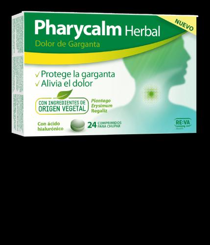 Pharycalm herbal dolor de garganta 24 comprimidos